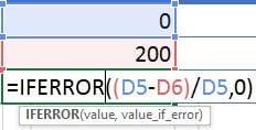 iferror formula