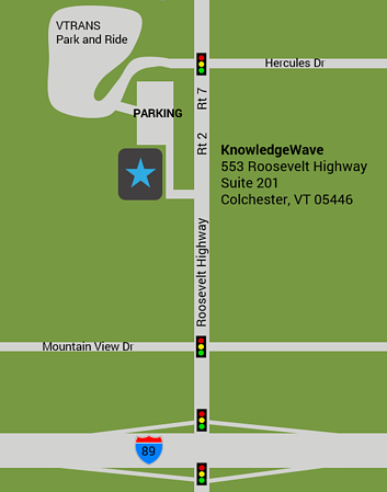 Map to KnowledgeWave 553 Roosevelt Highway Colchester VT