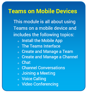 Microsoft Teams Training for Mobile Devices