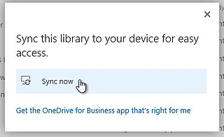 Sync libraries so you can use File Explorer