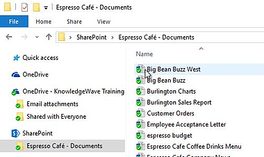 Access SharePoint and OneDrive documents with File Explorer