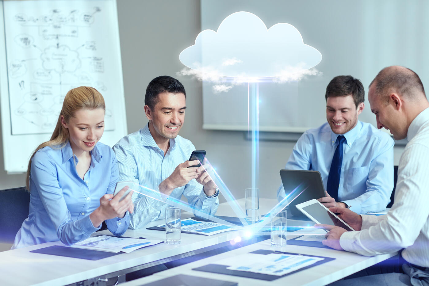 Small Business People Getting the Most Outof Office 365