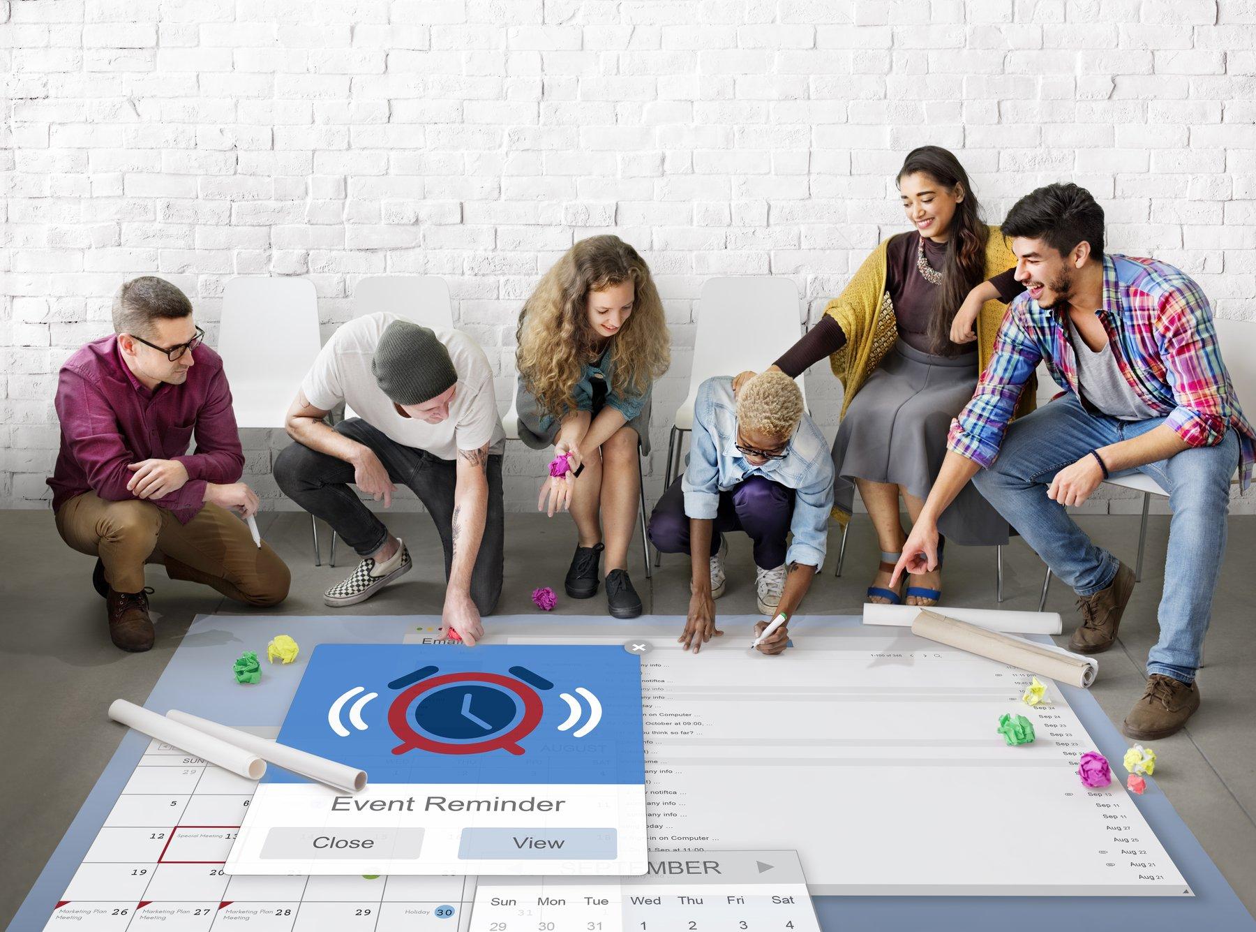 Team discussing Microsoft Planner