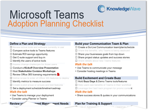 Screenshot of Teams Planning Checklist