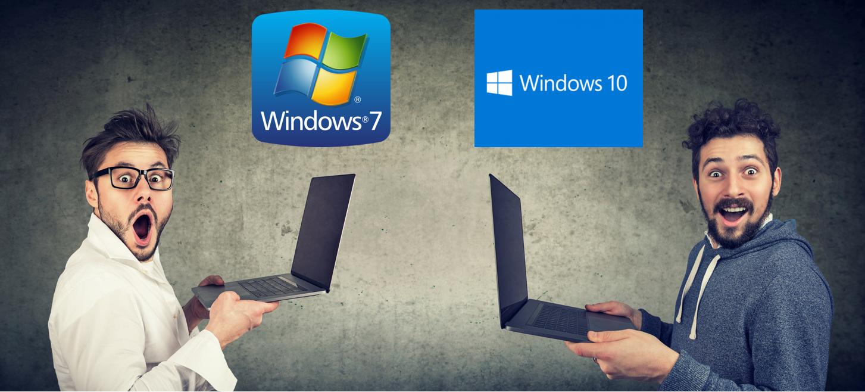 Windows 7 vs 10