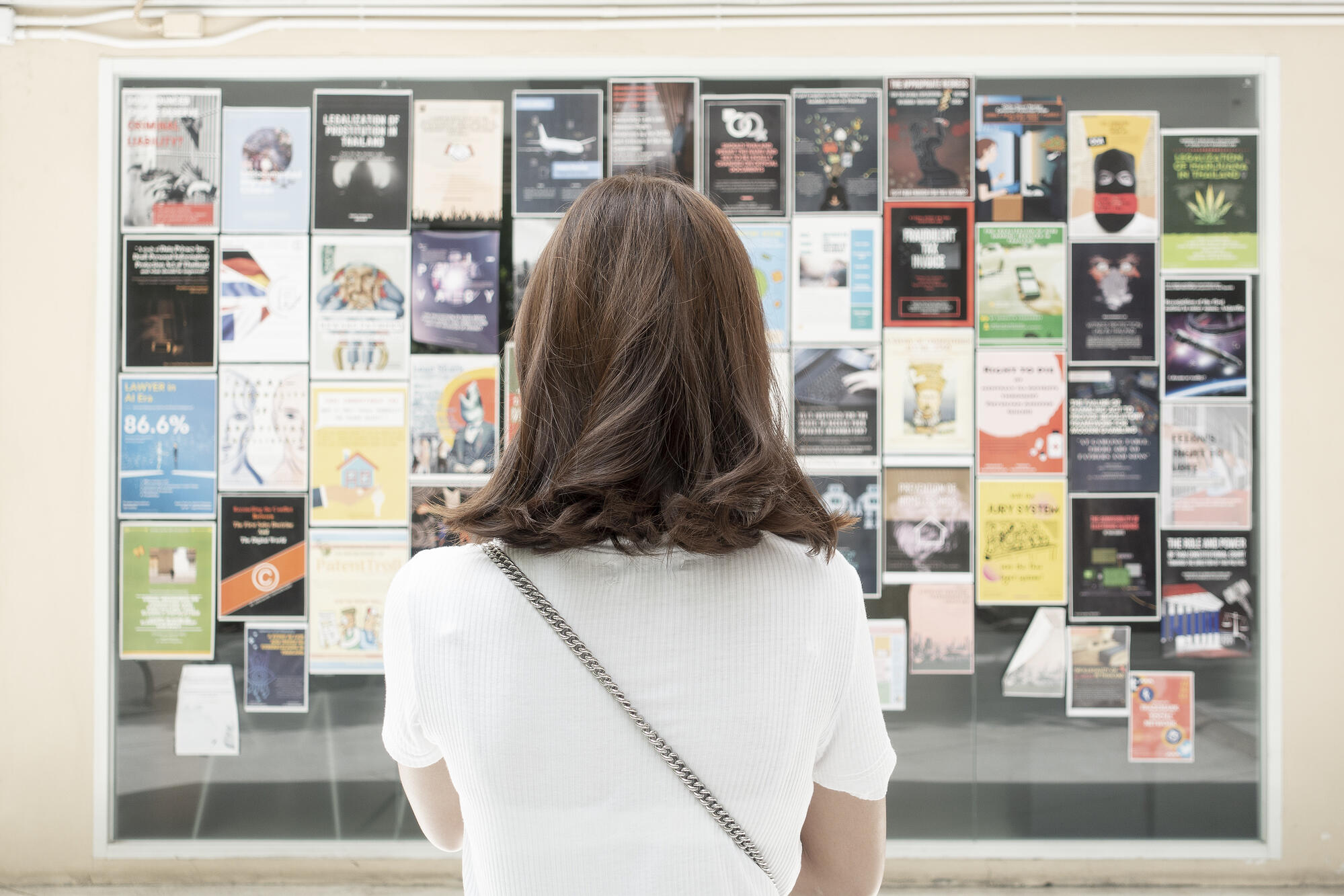 Woman looking at Office 365 Customized Posters