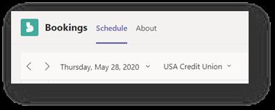 A Microsoft Bookings Calendar Schedule