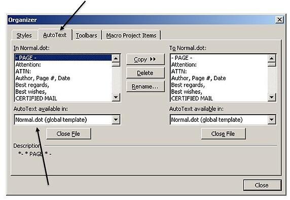 How To Migrate Microsoft Word 2003 AutoText Entries Into Word 2010