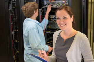 photo of 2 network engineers