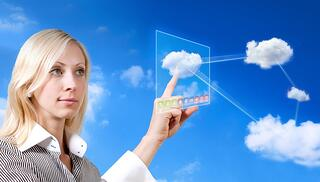 photo of businesswoman enjoying benefits of cloud computing