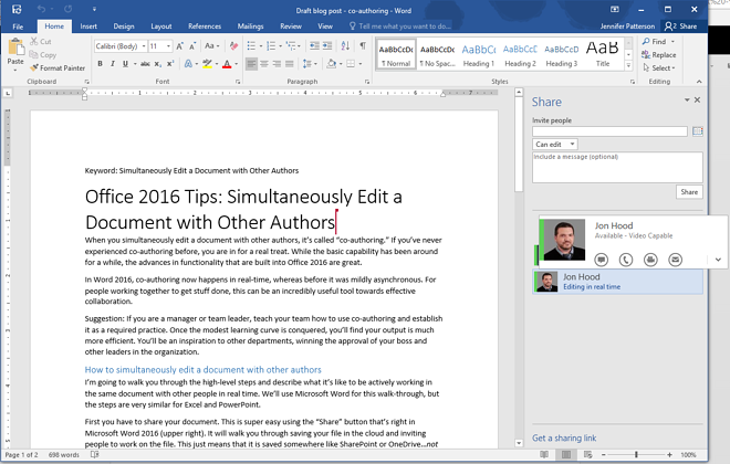 shared word document locked for editing by me