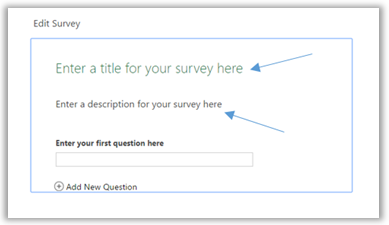 Edit your Excel Survey title