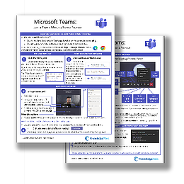 KnowledgeWave's Microsoft Teams Quick Reference Guide