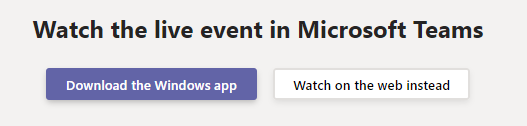 Options for Watching a Live Event