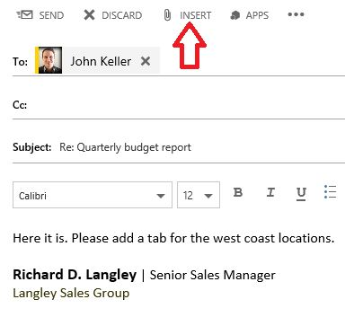 How to Add Attachments in Outlook Web App as a Link to Your