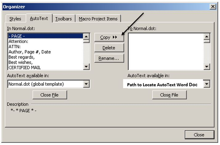 how to use autotext in word 2010