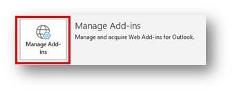 Manage Add-ins button